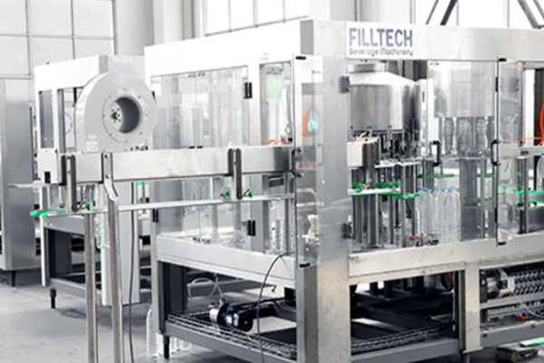 What equipment does a whole water filling line consist of?